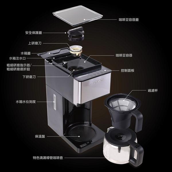 THOMSON 錐磨全自動研磨咖啡機 TM-SAL04DA 配件:咖啡壺(包含蓋子)