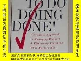 二手書博民逛書店英文原版罕見To Do Doing Done by G.Lynn