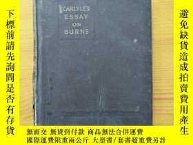 二手書博民逛書店CARLYLE 罕見S ESSAY ON BURNS(卡萊爾的燒