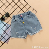 女童牛仔短褲夏薄款洋氣正韓兒童中大童寬鬆熱褲百搭時髦褲子