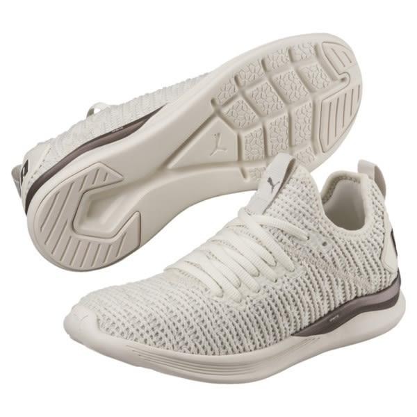 b1200873e PUMA Ignite Flash Luxe W 女鞋慢跑休閒編織襪套舒適米黃 運動世界 ...