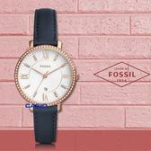 FOSSIL 手錶專賣店   ES4291 閃耀石英女錶 皮革錶帶 波紋白色錶面 防水 日期顯示