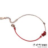 【Sayaka紗彌佳】925純銀祈願紅線系列 好運汪星人紅鑽手鍊