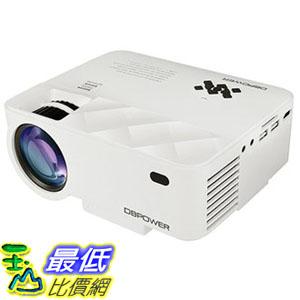 【日本代購】DBPower 迷你型 LED 投影機 亮度1500流明 1080P HDMI ★iPhone/Android手機可連接