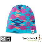 【 SmartWool 美國 孩童雙面幾何圓帽 海洋藍《海洋藍》】SW000450/針織帽/毛線帽/羊毛帽