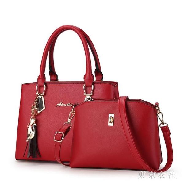 夏季子母包包新款時尚手提包大包簡約百搭斜挎包 QQ28975『東京衣社』