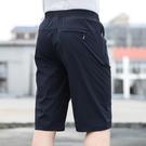 男士冰絲速干短褲七分褲寬鬆休閒夏季超薄款爸爸中老年人大碼外穿 設計師