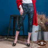 【岱妮蠶絲】樂活時尚個性七分褲(渲染條紋)