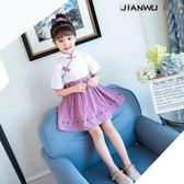 女童漢服連衣裙夏季兒中國風唐裝