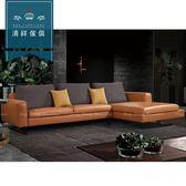 【新竹清祥傢俱】PLS-07LS96-現代時尚牛皮L型沙發 現代 時尚 設計 牛皮 沙發 多人 L型