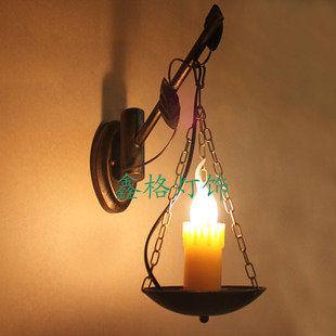 歐式懷舊個性復古鐵藝地中海壁燈