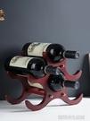 居家家歐式木質紅酒架客廳擺件葡萄酒架創意實木酒瓶架家用酒架子 【優樂美】