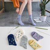 新款 韓版素色小清新仙人掌全棉女中筒襪棉襪 襪子《小師妹》yf593