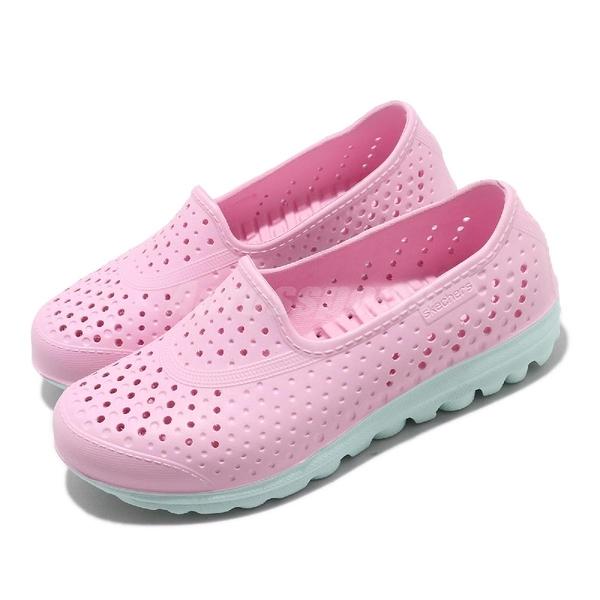 Skechers 休閒鞋 H2go-Waterlillys 粉紅 綠 中童鞋 大童鞋 女鞋 水鞋 套入式 懶人鞋【ACS】 86622LPKLB