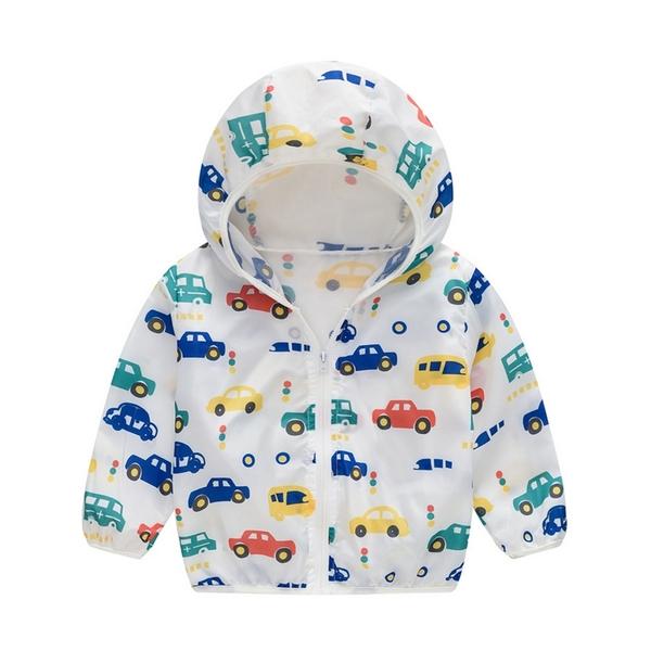兒童防曬外套 輕薄空調外套透氣空調服 春夏薄外套 男童外套 女童外套 88689