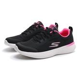 SKECHERS 慢跑鞋 GO RUN400 V2 黑 桃紅 網布 輕量 休閒 女 (布魯克林) 128000BKPK