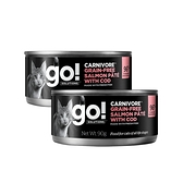go! 德國貓罐-豐醬無穀海洋鮭鱈-90g 12件組