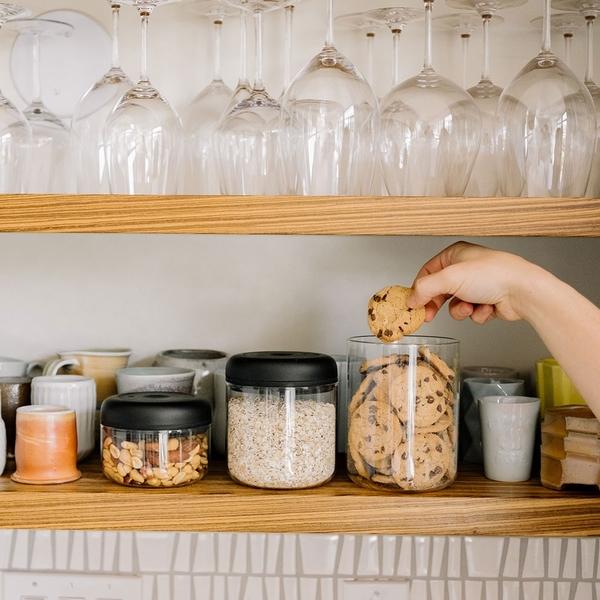 Fellow Atmos 玻璃真空防潮密封罐-0.4L咖啡茶葉罐廚房食品雜糧餅乾糖果零食收納盒儲物儲藏分裝罐