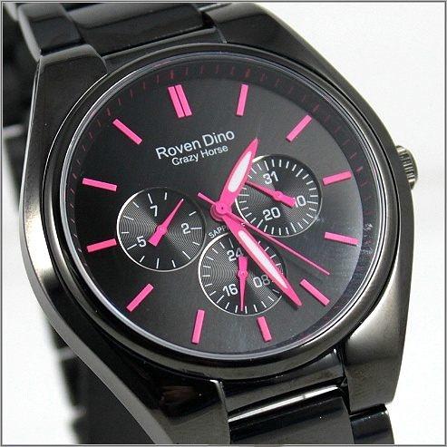 【萬年鐘錶】 Roven Dino 羅梵迪諾 楊丞琳代言 全黑紅字時尚錶 RD9803MB