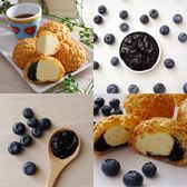 【名店直出-豆酥朋】藍莓雙餡泡芙4盒組(6入/盒)