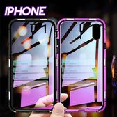 IPHONE X/XS/XS MAX/XR/8/7系列 雙面玻璃金屬邊框防刮防摔手機殼(十一色)【CAS412】