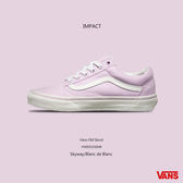 IMPACT Vans Old Skool 淡紫 白底 女鞋 運動 滑板鞋 休閒鞋 VN0003Z6IMB