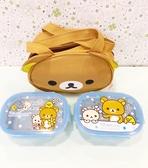 【震撼精品百貨】Rilakkuma San-X 拉拉熊懶懶熊~拉拉熊便當盒附袋-陀圓形#46310