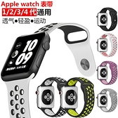 【高品質】適用蘋果手錶iwatch錶帶耐克硅膠運動型【英賽德3C數碼館】