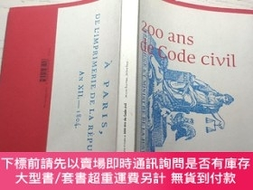 二手書博民逛書店200罕見ANS DE CODE CIVIL - MINISTERE DES AFFAIRES ETRANGERE