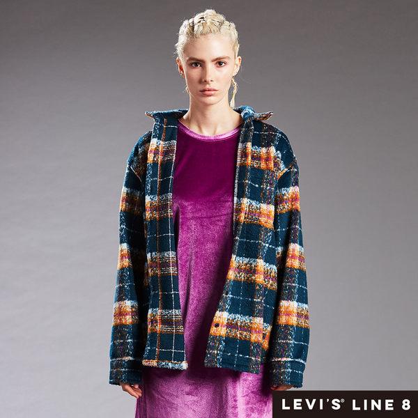 Levis 男女同款 格紋襯衫外套 / Line 8 系列 / oversize 寬鬆版型 / 外刷毛