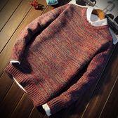 秋冬季男士毛衣男韓版寬鬆針織衫青少年圓領外套加厚打底衫潮流『櫻花小屋』