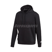 adidas 長袖T恤 Big Badge of Sport Boxy Hoodie 黑 白 男款 帽T 運動休閒 【ACS】 FR6607