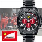 【僾瑪精品】Scuderia Ferrari 法拉利三眼競速時尚鋼帶運動男用腕錶-46mm/FA0830037