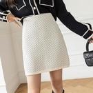 針織半身裙女秋冬新款韓國高腰a字裙百搭修身包臀裙短裙ins潮H331快時尚