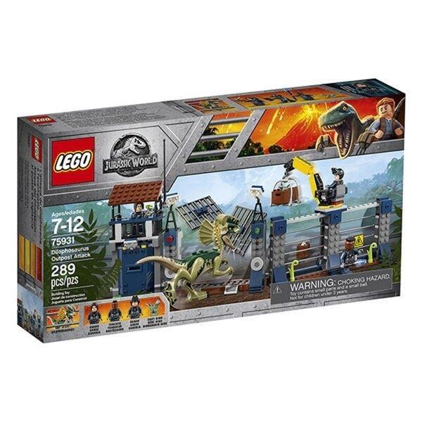 【南紡購物中心】【LEGO 樂高積木】侏儸紀世界 Jurassic World 系列 -Dilophosaurus Outpost Attack