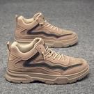 勞保鞋 運動男士休閒皮鞋潮鞋工作勞保馬丁靴工地加絨保暖棉鞋 【618特惠】