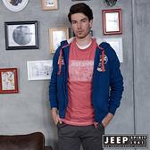 【JEEP】都市冒險經典休閒刷毛外套 (藍)