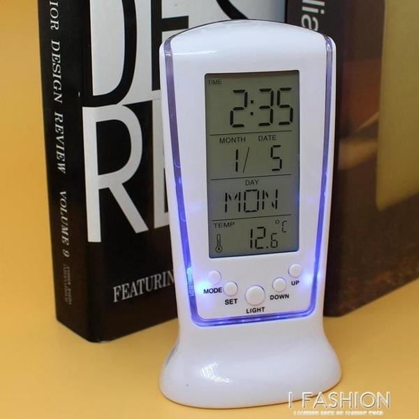 LED鬧鐘長形計時鬧鐘 日期溫度星期電子鬧鐘 創意靜音背光鬧鐘-ifashion