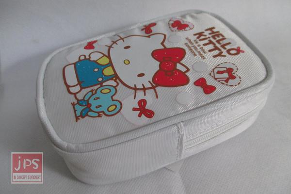 Hello Kitty 凱蒂貓 掛勾零錢包 白色 KRT-668289