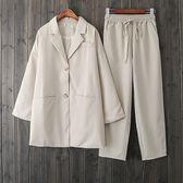 俐落風格 鬆緊帶九分褲 獨具衣格