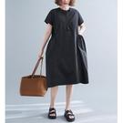 洋裝 - K6823 簡約日常口袋洋裝【加大F】