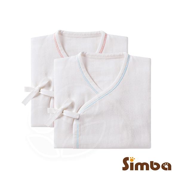 Simba 小獅王辛巴 極柔感紗布反袖肚衣(60cm)-藍/粉【佳兒園婦幼館】