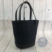 BRAND楓月 CELINE 黑色 帆布 凱旋門花紋 硬底 皮革拼接 手提包 水桶包 托特包