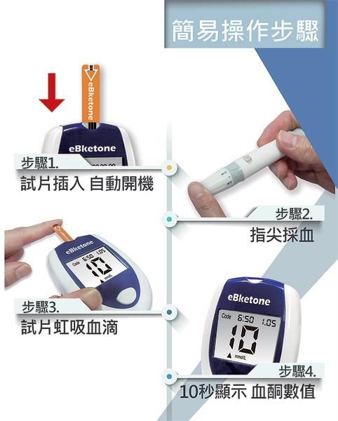 暐世 eBketon  血酮機  單機組 (主機+採血筆+10片血酮試紙+10支針+30片尿酮試紙) 生酮