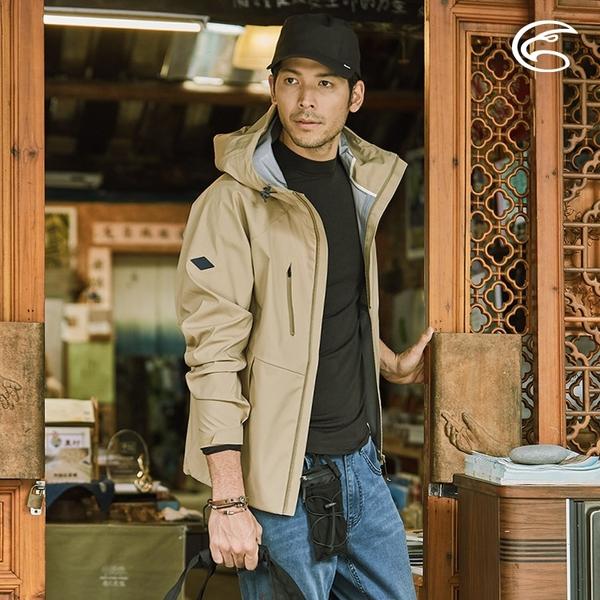 ADISI 男輕薄3L防水透氣連帽外套AJ2021018 (S-2XL) / 城市綠洲 (超撥水 防風 透濕 防水外套 戶外機能)
