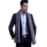 羊毛圍巾-英倫時尚幾何方格秋冬防寒男女披肩5色73ts7【時尚巴黎】