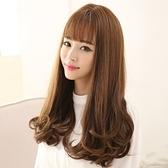 整頂假髮(長髮)-唯美自然逼真齊瀏海女假髮3色73ef47【時尚巴黎】
