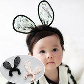 UNICO 韓版 兒童蕾絲百搭親子造型大耳朵髮帶