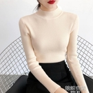 2020秋冬新款半高領短款毛衣打底衫洋氣百搭修身長袖內搭針織衫女-完美