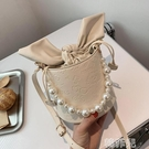 水桶包 夏季包包新款網紅時尚女包高級質感斜背包洋氣百搭單肩水桶包 韓菲兒